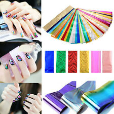 50pcs/set Nail Art Stickers Transfer Foils Wraps Craft Decals Manicure Deco DIY