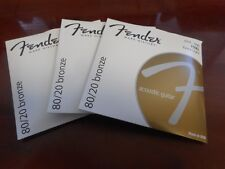 3 SETS! Fender 70XL 80/20 Bronze Electric Guitar Strings 10-48, 073-0070-402