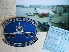 RAF/USAF  service related Turkish air force STRATO KC 135R TANKER blue  patch