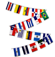 30ft String Flag Set of 20 Latin America Country 12x18 Bunting Flag Banner Flags