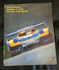 Vintage 1973 Sunoco Porsche + Audi Can-Am Press Release Kit Book 917-30 Turbo