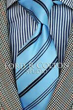 Lord R Colton Studio Tie - Vatican Blue Stripe Woven Necktie - $95 Retail New