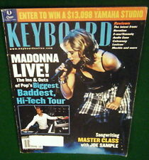 2002 MADONNA Lexicon MPX 200, Mackie MDR24/96 Joe Sample Class Keyboard Magazine