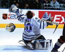 WHOA! SHOT Takes HEALY 's Head OFF Toronto MAPLE Leafs SAVE 8X10 INCREDIBLE L@@K