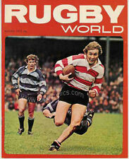 RUGBY WORLD MAGAZINE AUGUST 1973 - PERFECT GIFT FOR A FAN BORN IN THIS MONTH