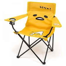 Sanrio Gudetama Lazy Egg Folding Chair Outdoor Camp Beach Travel w/ Carry Bag