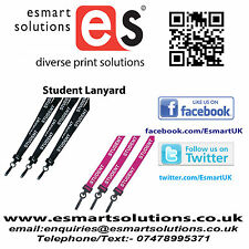 10 x STUDENT Neck Lanyard, BLACK or PURPLE, (FREE P&P)