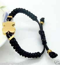 Fashion modern trendy bear bracelet ship to US & Worldwide Rope chain gold plate