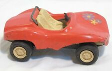 Vintage Tonka USA Red Orange Metal Beach Dune Buggy Convertible Flower Decal