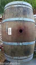 3 authentic Used Wine Barrels from Napa Valley solid oak Free Shipping