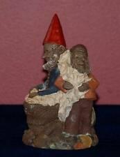 """TOM CLARK Gnome Figurine #5121 Recycling """"PETE AND RE-PETE"""" Ed #88 Signed 1990"""