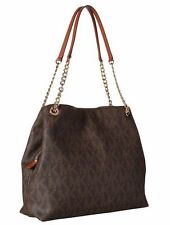 NWT MICHAEL MICHAEL KORS Jet Set Large Logo Chain Tote Shoulder bag Brown $298