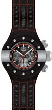 Invicta S1 Rally Chronograph Black Dial Black Leather Mens Watch 19175