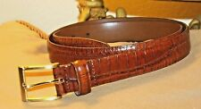 GORGEOUS REPTILE EMBOSSED ITALIAN CALFSKIN HANDCRAFTED BELT/  95/36