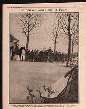 WWI General Guillaumat Maréchal Joffre/Maréchal-Ferrant Cheval 1915 ILLUSTRATION