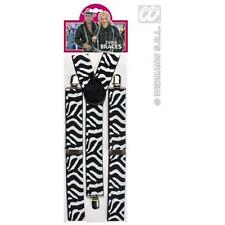 Zebra Print Braces Gangster Pimp Fancy Dress Accessory