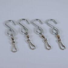 Swivel Hooks for Wind Spinners or Decor - Four S Hook Clip Hangers HEAVY DUTY