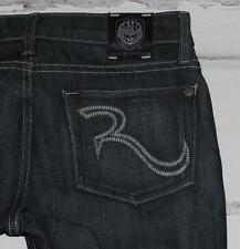 "ROCK & REPUBLIC~NWOT~DARK WASH *HALEN* STRAIGHT JEANS~0/25 TALL (36.5"" INSEAM)"