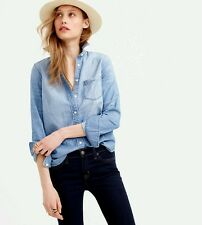 New J Crew Always Chambray Denim Shirt - Size 6 Indigo style c9310 - NWT
