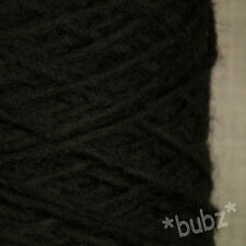 ALPACA WOOL YARN ARAN / DK 500g CONE 10 BALLS BLACK DOUBLE KNITTING SUPER SOFT