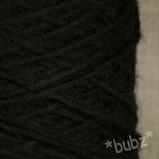 Alpaca Lana Filato ARAN / DK 500g CONO 10 Palle Nero Doppia Knitting Super Morbido