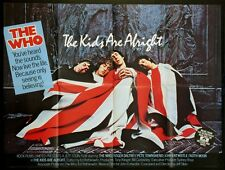 THE KIDS ARE ALRIGHT THE WHO ROGER DALTREY KEITH MOON 1979 BRITISH QUAD NM