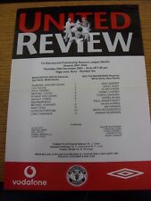 20/12/2001 Manchester United Reserves v Bolton Wanderers Reserves [At Bury] (Sin
