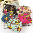 Hihg Colorful Fashion Owl Coin Money Bag Purse Wallet for Women and Girls New