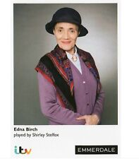 SHIRLEY STELFOX AS EDNA BIRCH ITV EMMERDALE UNSIGNED CARD - MINT CONDITION