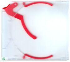 20 CD DVD e-slimcase Estrattore Custodia Con Rosso trigger per 1 disco Slimline NUOVO HQ