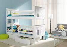 Bunk Beds Childrens Wooden White Adult size 3ft 2 Spring Mattresses Over 500sold