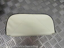 VESPA PX LAMBRETTA 125 REAR BACKREST CARRIER RACK PAD CREAM BLACK PIPING