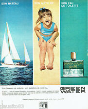 PUBLICITE ADVERTISING 036  1964  Jacques Fath  eau de toilette homme Green Water