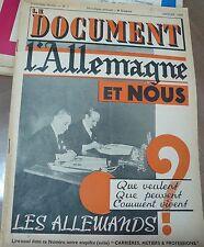 Le Document, Janvier 1939: L' Allemagne et nous,l'inconscience de la France…