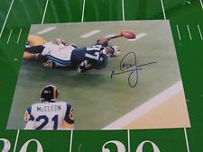 THE TACKLE SUPER BOWL XXXIV SIGNED BY MIKE JONES COA FROM MMA RAMS & TITANS