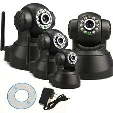 Full Set 4x Black Home IP Camera IR Indoor Security Day Night Full Surveillance