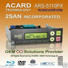 ACARD ARS-5110PX 1-10/11 SATA ODD DVD/CD/BD Duplicator Bundled w/ USB Utility