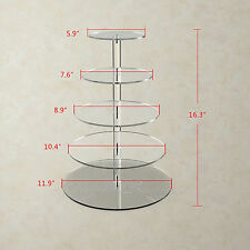 Round Crystal Clear Acrylic Cupcake Stand Wedding Display Cake Tower Holder