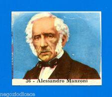 CENTENARIO UNITA D'ITALIA - Figurina-Sticker n. 36 - ALESSANDRO MANZONI -Rec