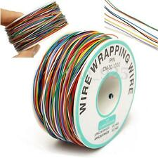 P/N B-30-1000 250M 30AWG 8-Wire Colored Insulation Wire Wrapping Cable Wrap Reel
