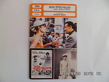 CARTE FICHE CINEMA 1964 LES DEUX TETES FOLLES William Holden Audrey Hepburn