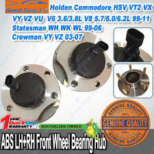 PAIR FRONT WHEEL BEARING HUBS UNIT HOLDEN COMMODORE VT-II VX VY VZ with ABS