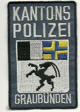 SCHWEIZ:  Kantonspolizei  GRAUBÜNDEN  Police  Polizei Abzeichen Patch Aufnäher