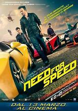 POSTER NEED FOR SPEED FILM UNDERGROUND AARON PAUL MICHAEL KEATON LOCANDINA #3