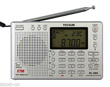 TECSUN PL-380 (Silver Color) DSP PLL World Band Radio       ENGLISH VERSION