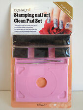 Konad Nail Art Clean Pad-For cleaning of plates n scraper without messing nails
