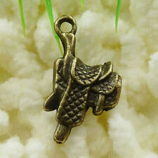 Free Ship 132 pieces Antique bronze saddle charms 22x12mm #075