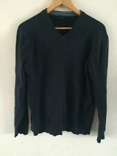 GAP Heavy Knit Jumper Size M Navy Blue V Neck  R6272