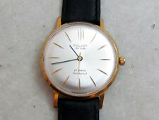 POLJOT DE LUXE gold palted USSR vintage men's mechanical wristwatch