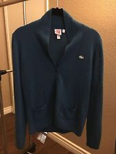 Authentic Lacoste Live Sweater Womens Cardigan Knit Sweater Size Small